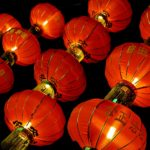 mid autumn festival lanterns are a symbol to immigrants of this festival when they're far from home